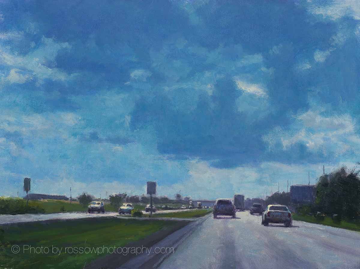 Artwork Photography of Blue Clouds 12x16