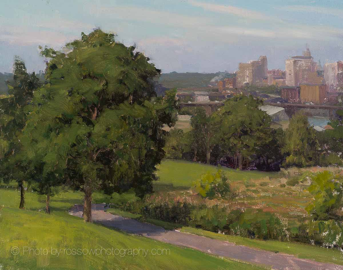 Artwork Photography of Mounds Park City View 11x14