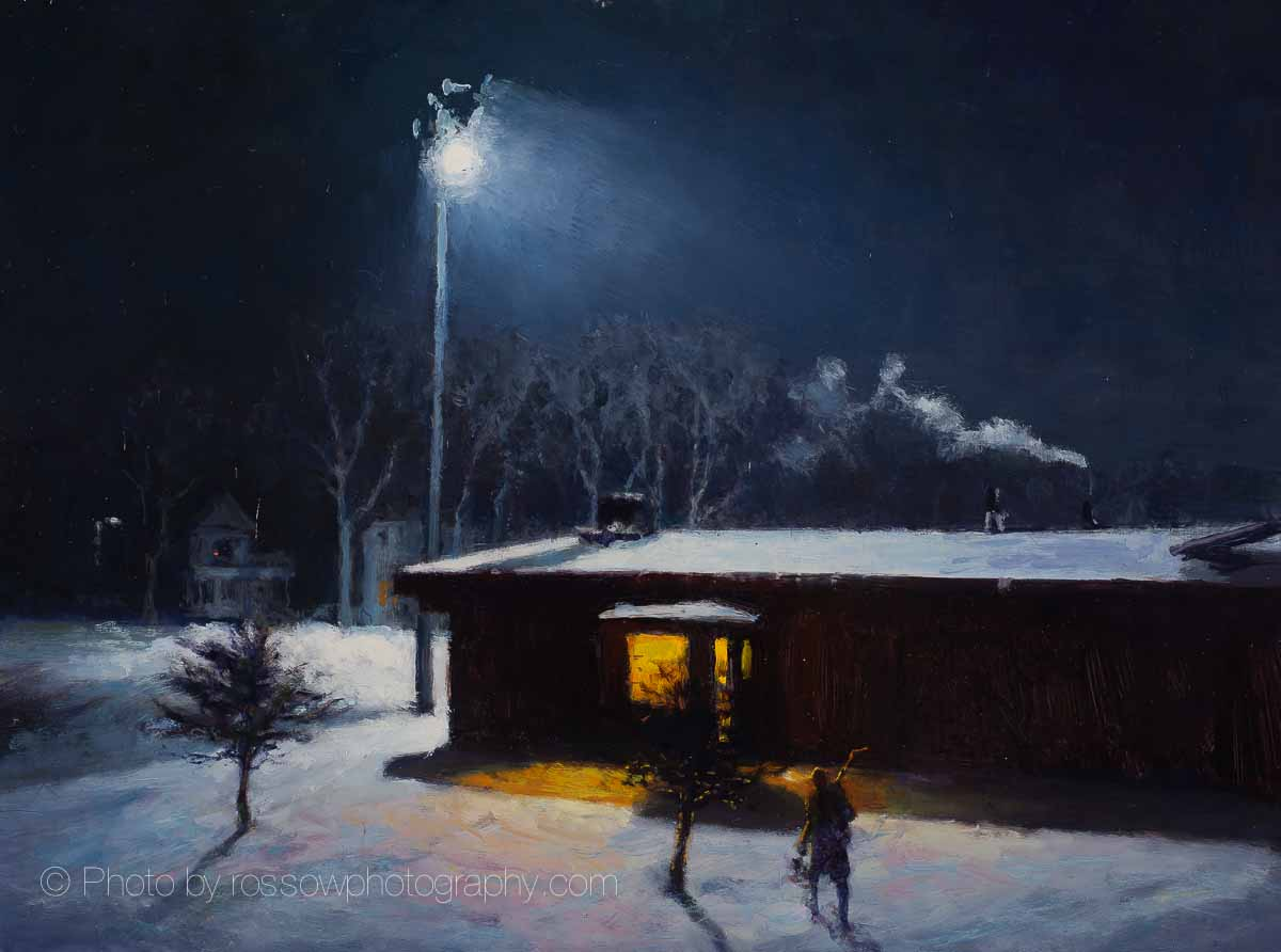 Artwork Photography of Night Rink 12x16