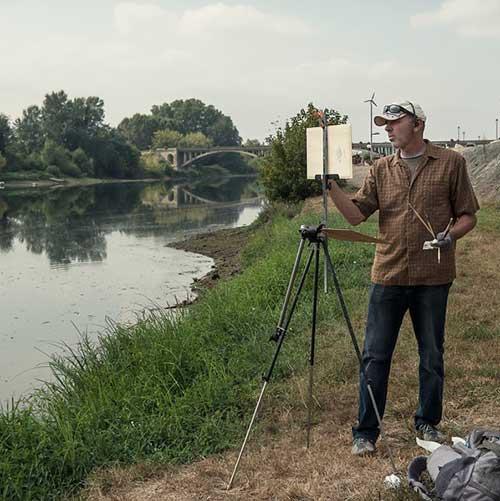 Plein Air Painter Carl Bretzke