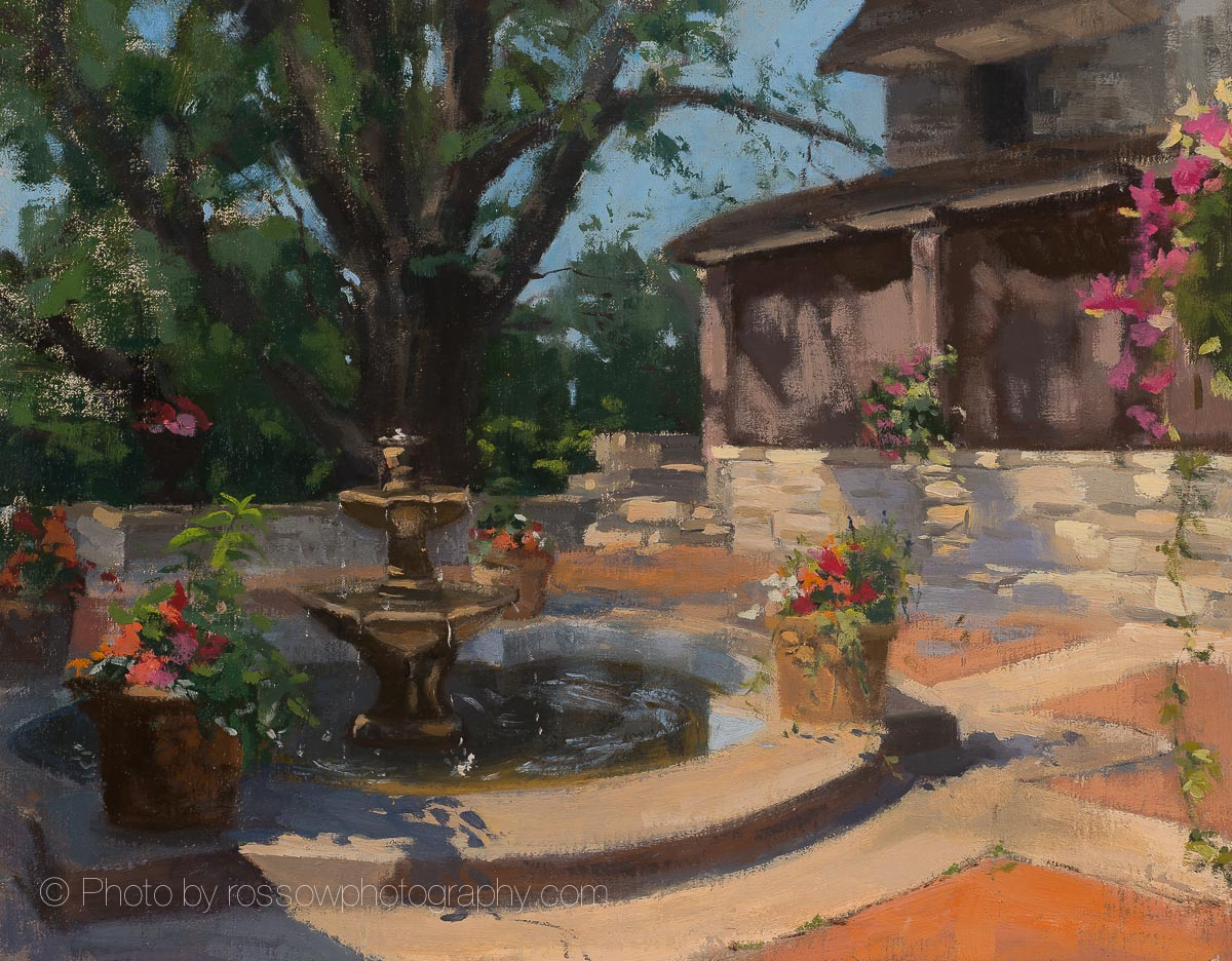 Artwork Photography of Garden Fountain