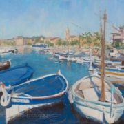Artwork Photography of Moored Boats