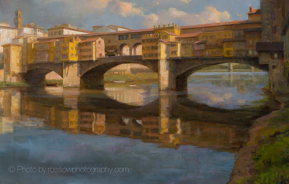 Artwork Photography of Rippling Light Ponte Vecchio