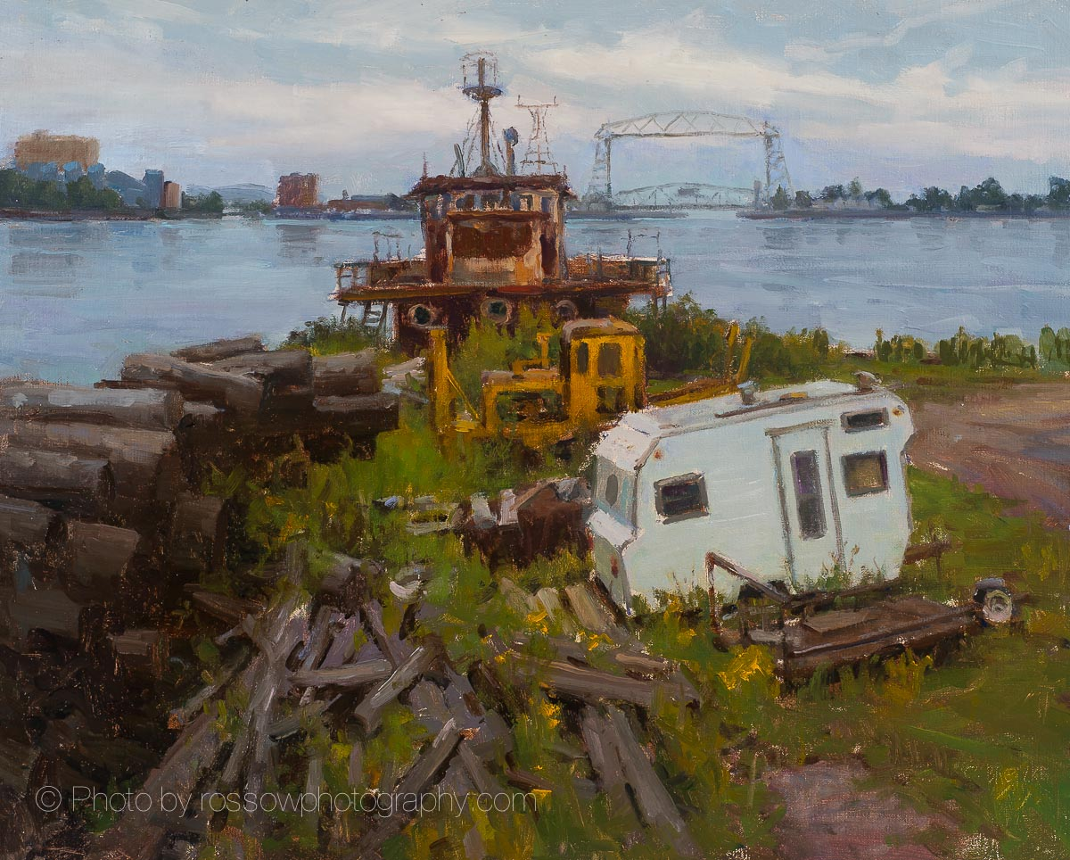 Artwork Photography of Trailer and Timbers