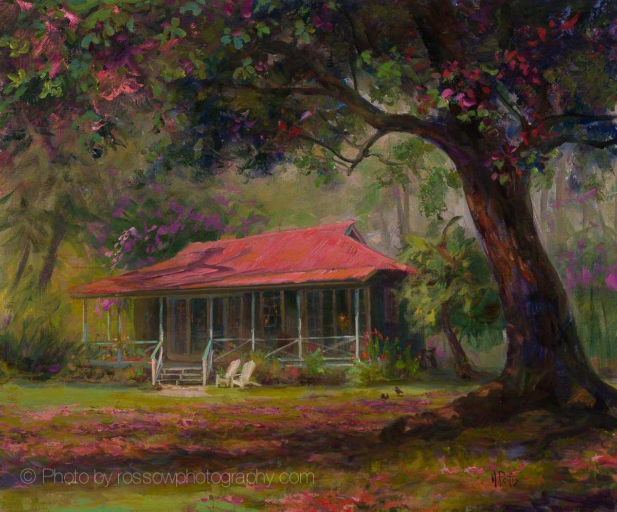 Artwork Photography of Red Roof-by-Mary Pettis