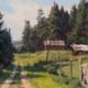 Rustic Farm, Madeline Island 8x12