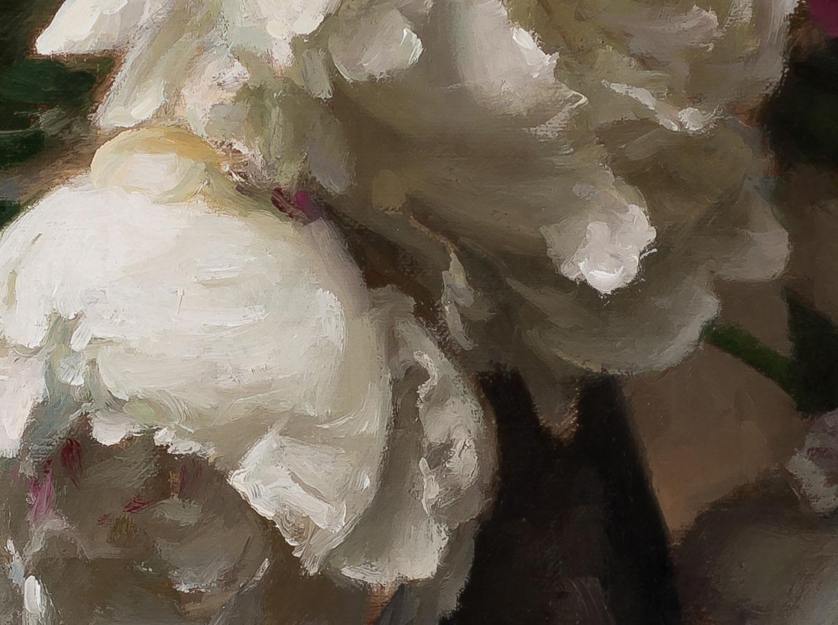Peonies by Steve Levin detail