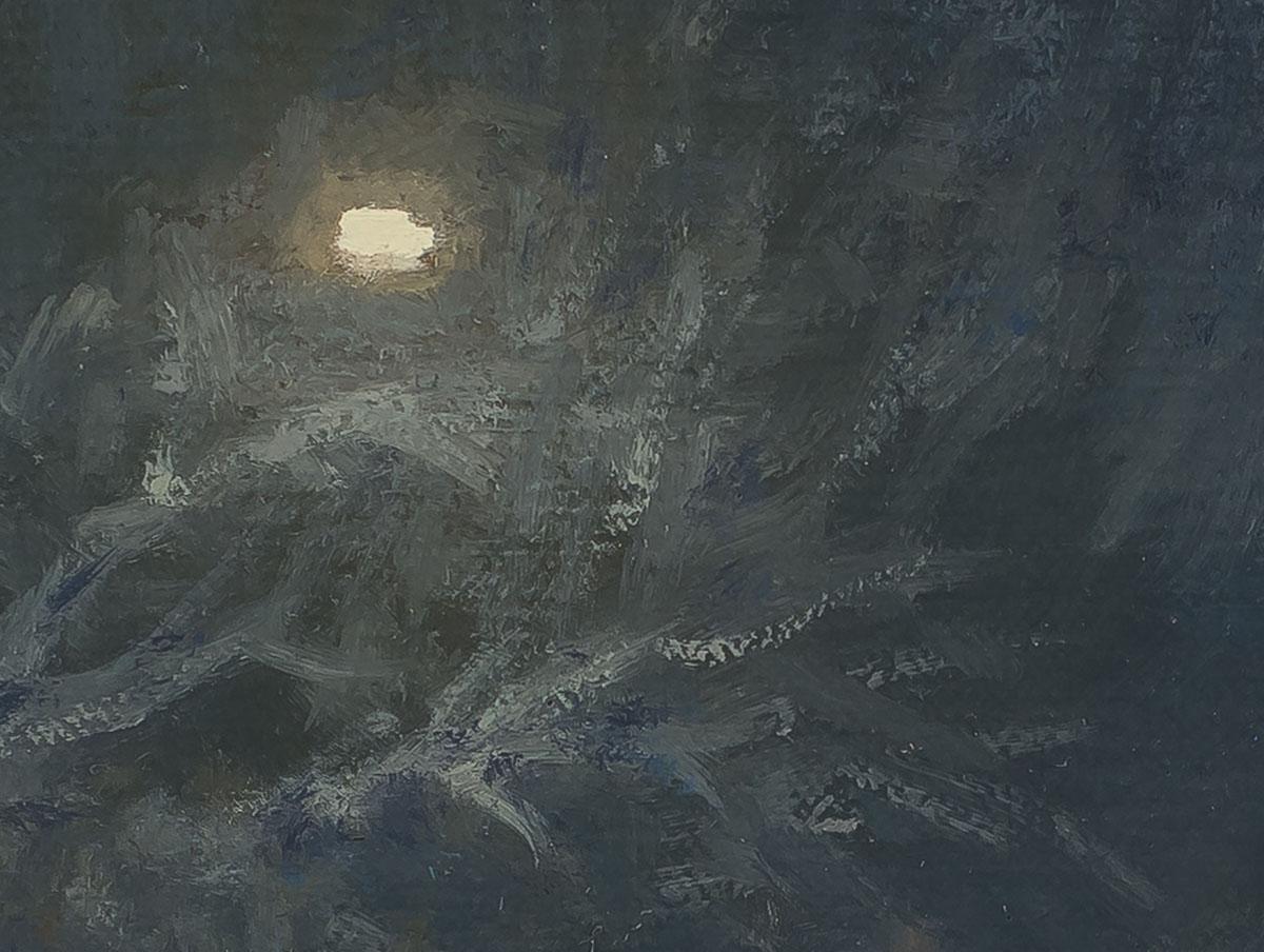 Recent Snow, Quiet Street 12x16 - Carl Bretzke