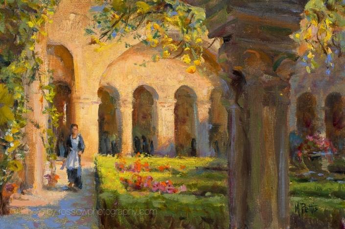Oil Painting - Van Gogh's Cloister