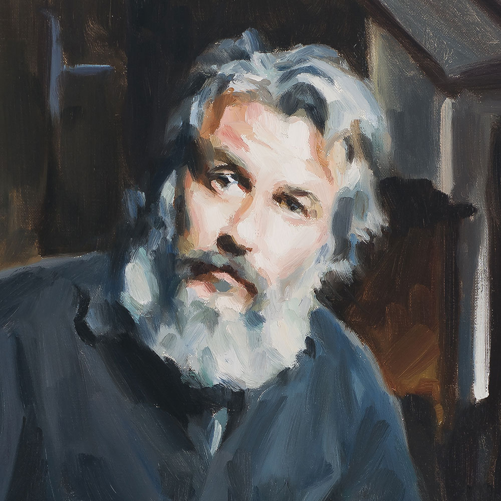 Self Portrait of Artist Paul Oxborough