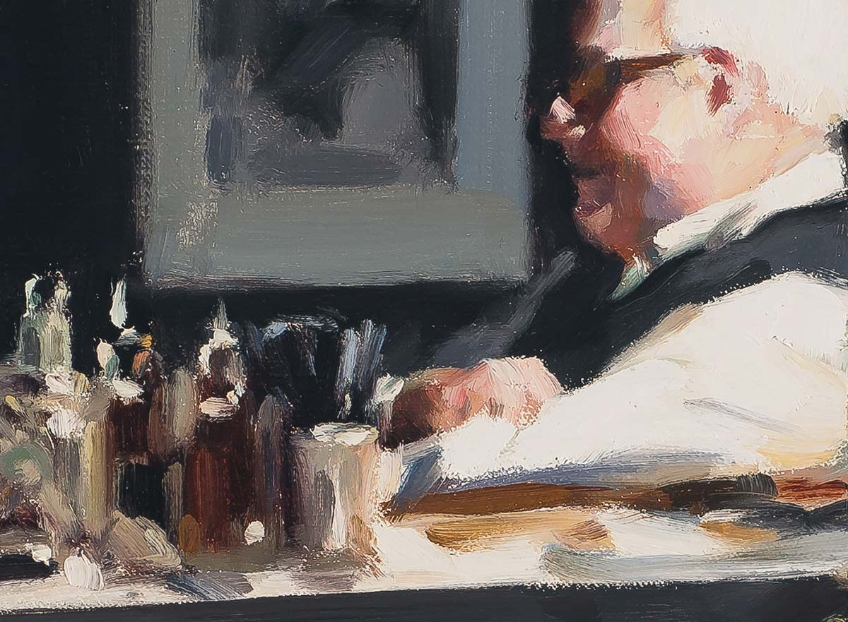 The Regulars painting by Paul Oxborough detail