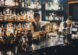 Trench Bar, Tokyo painting by Paul Oxborough