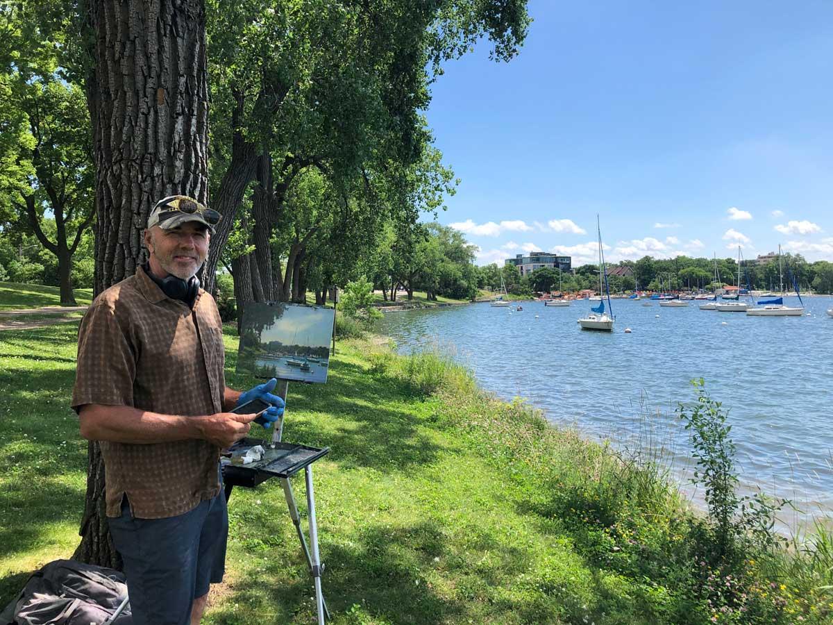 Carl-Bretzke-plein-air-painting-in-Uptown-Minneapolis