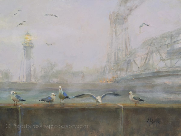 Duluth Fog Company-Painting by Mary Pettis