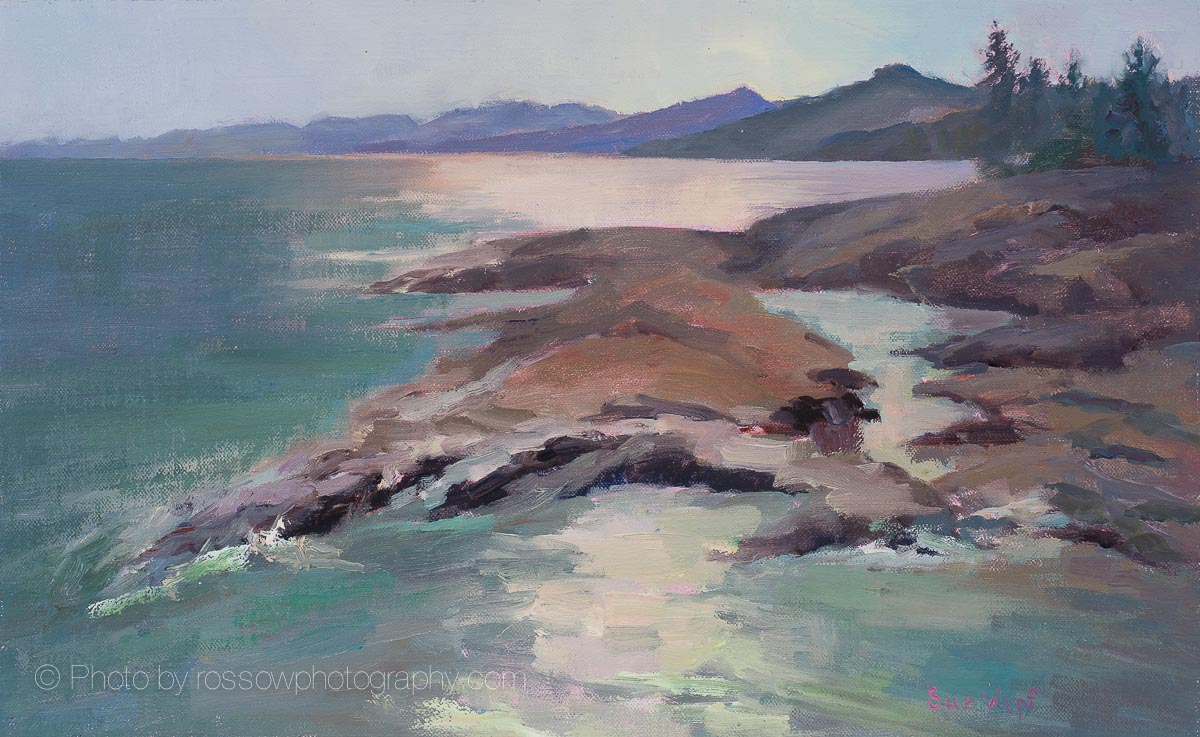 Glowing Superior Painting by Sue Wipf
