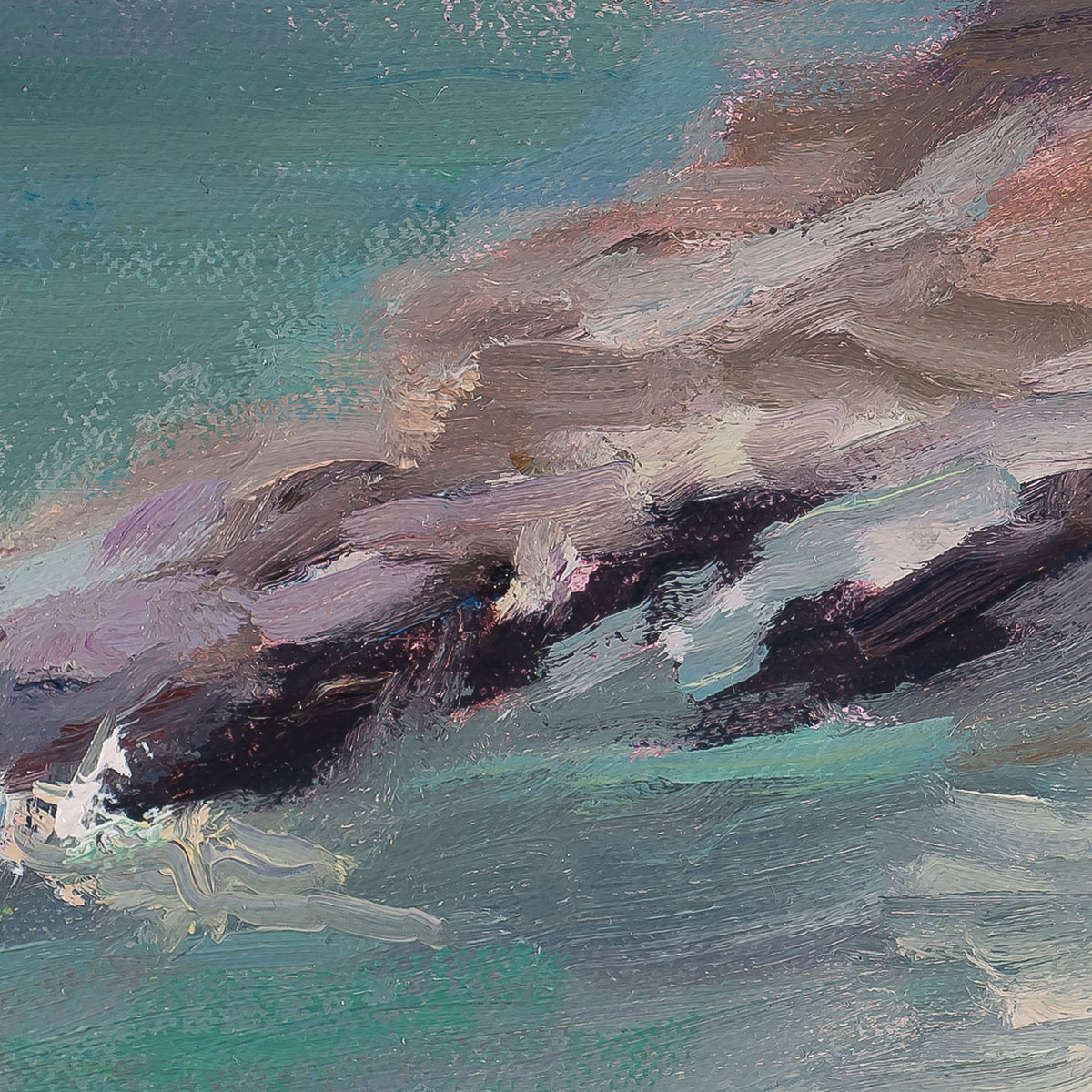 Glowing Superior-Painting by Sue Wipf - detail