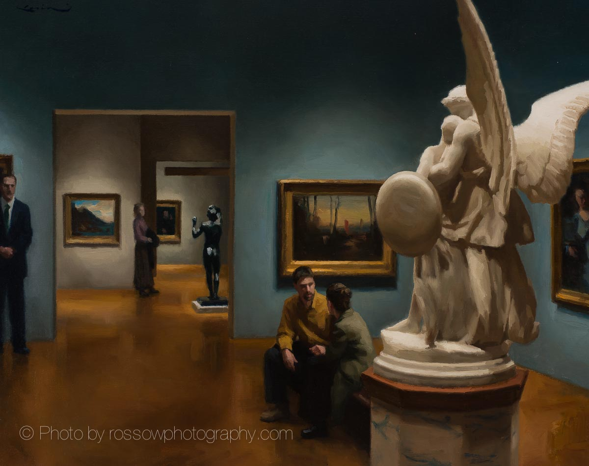 In the Museum Painting by Steve Levin