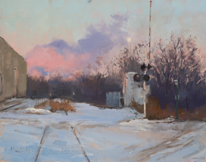 Winter Crossing 11x14-Painting by-Mary McLean