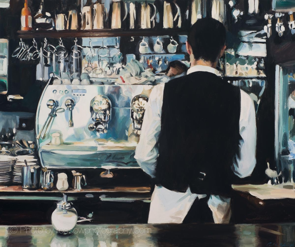 Cafe by Painting by Paul Oxborough