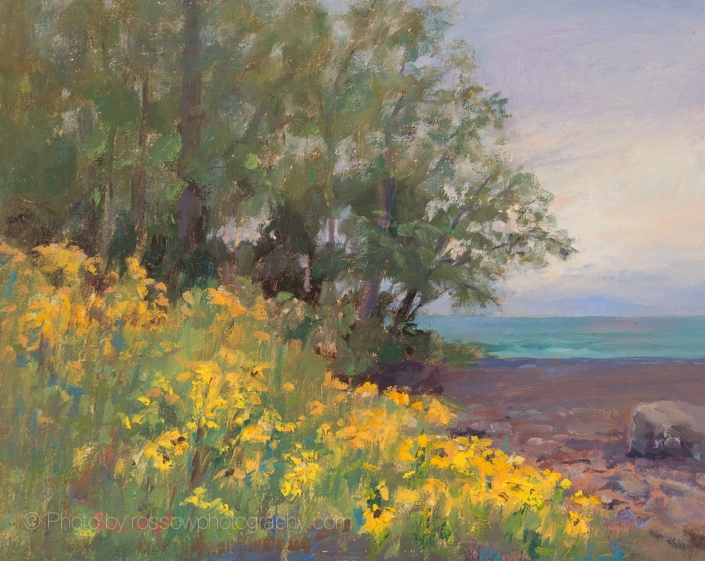 Yellow Profusion Painting by Sue Wipf