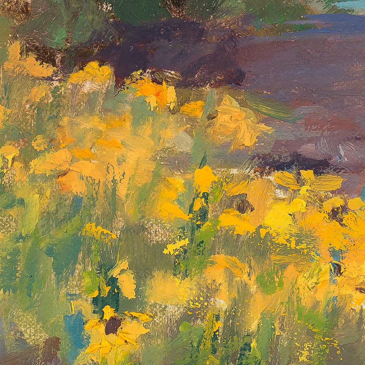 Yellow Profusion-Painting by -Sue Wipf - crop