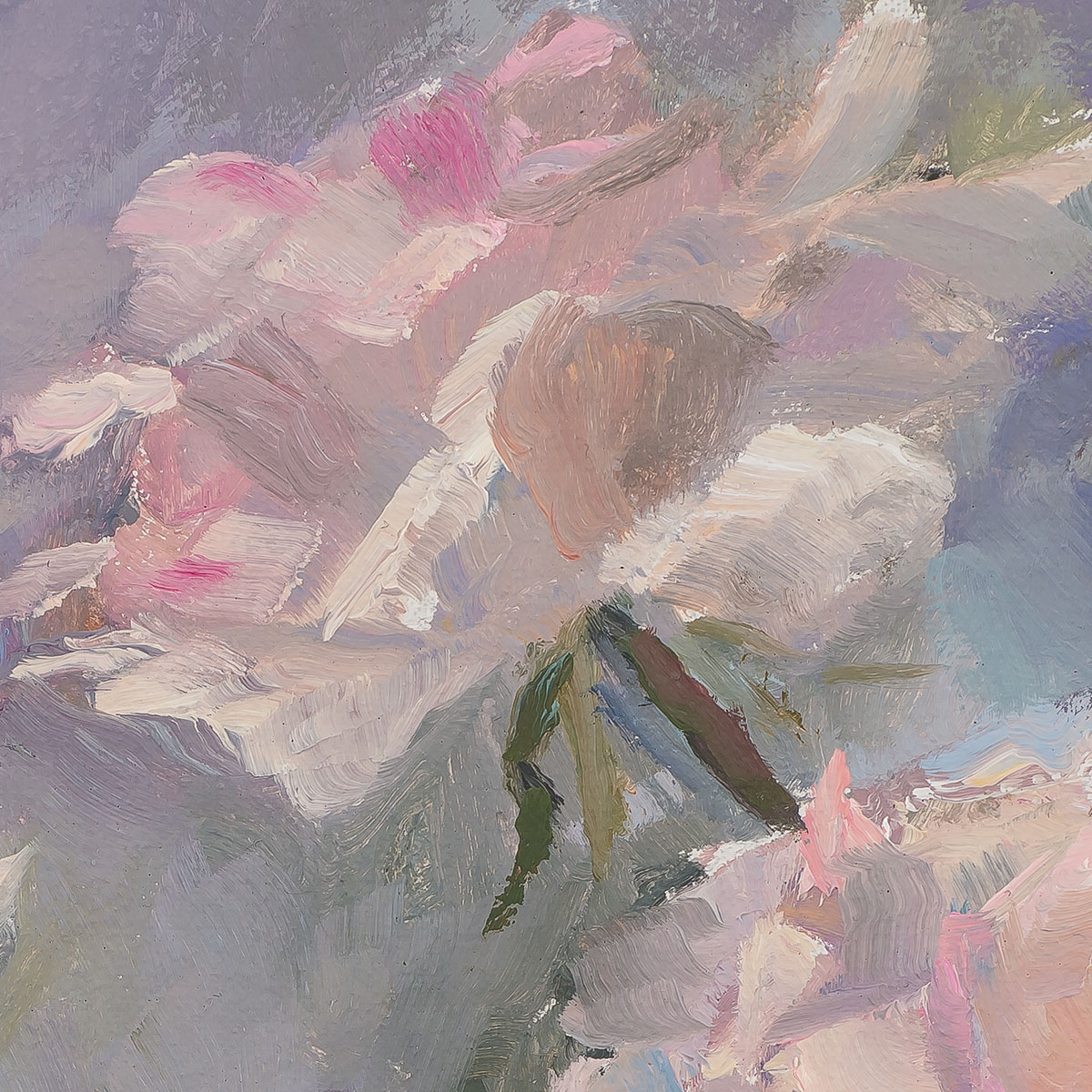 Pink Promise - Painting by Sue Wipf - Detail