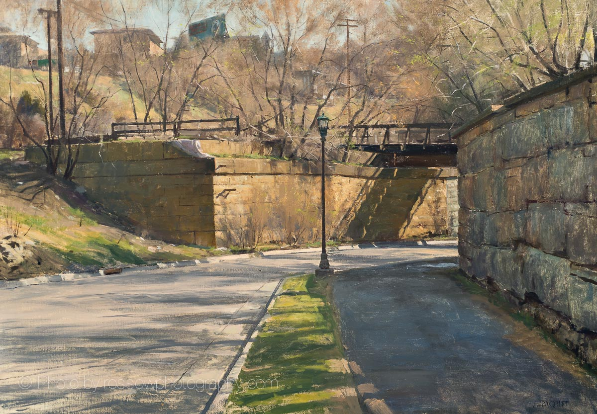 Trestle Shadow 28x40-painting by Joe Paquet