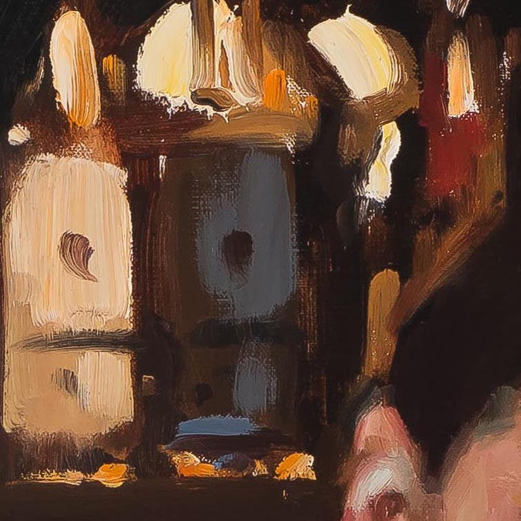 At Hanky Panky 34 x 44-painting by-Paul Oxborough-detail 2