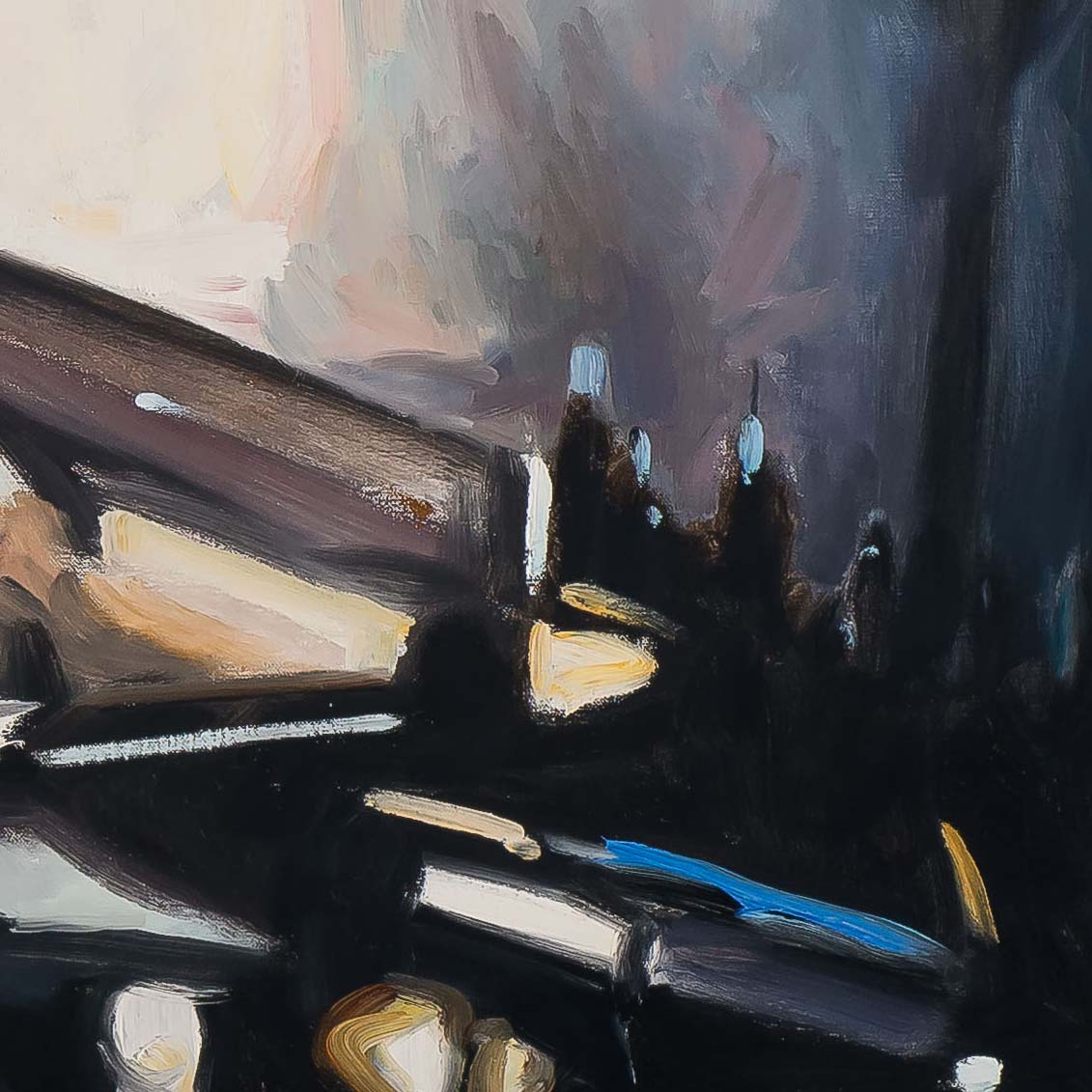 At The Pulitzer Bar 54x72-painting by-Paul Oxborough-detail