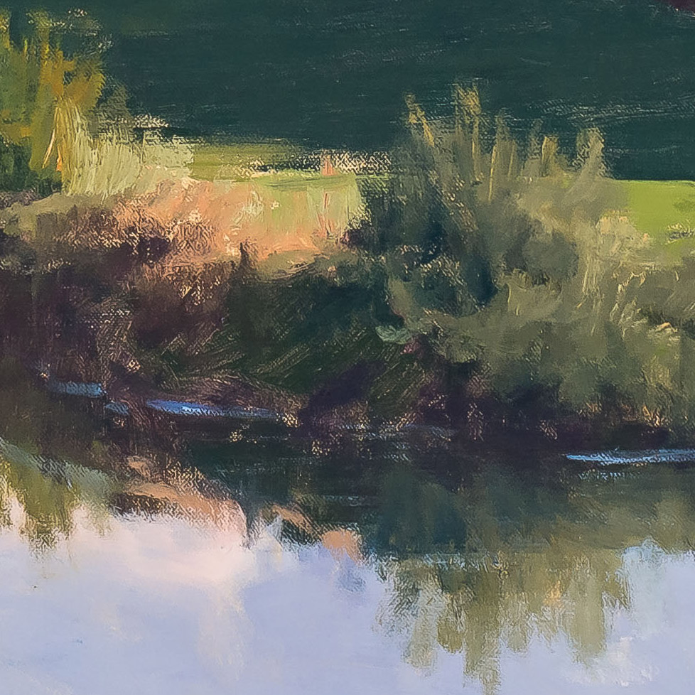 Evening on the Arno 36x50-painting by-Joe Paquet-detail
