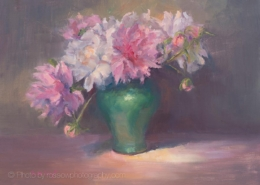 My Garden Peonies-painting by Sue Wipf