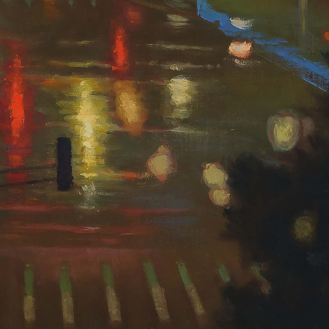 Raindrop Abstract-painting by-Carl Bretzke-detail2-210331