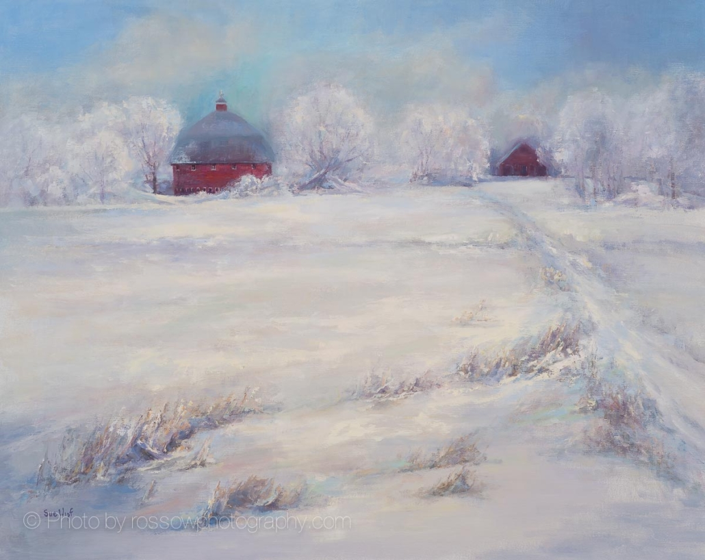 Round Barn-painting by Sue Wipf