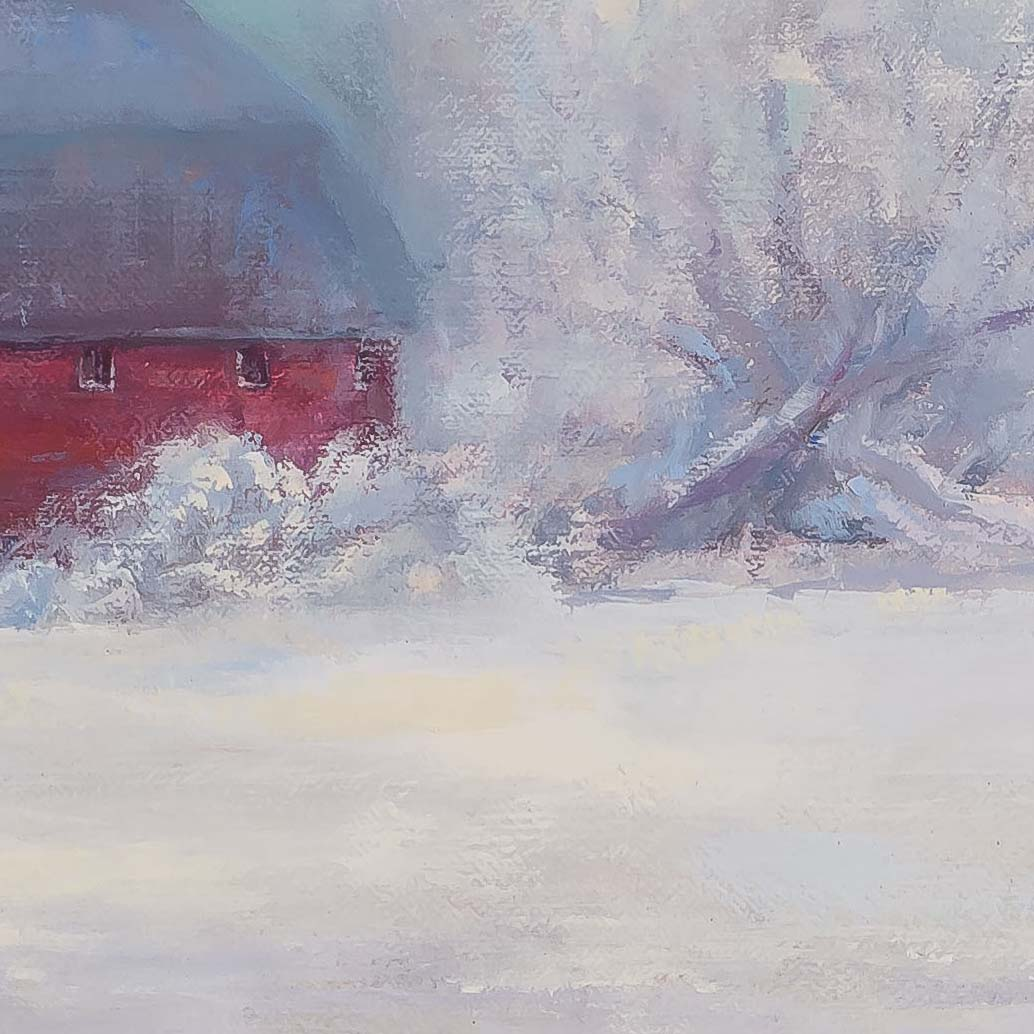 Round Barn-painting by-Sue Wipf-detail