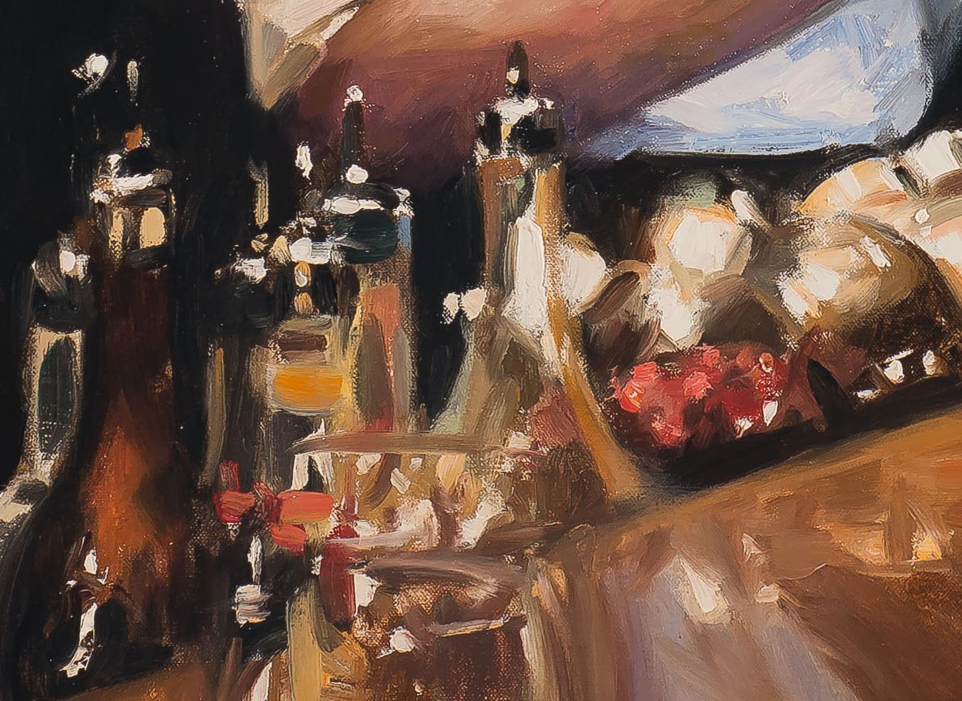 Speak Low, Shanghai 38x52-painting by-Paul Oxborough-detail