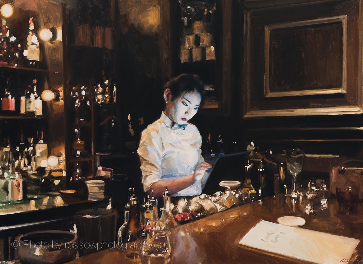 Speak Low, Shanghai 38x52-painting by Paul Oxborough