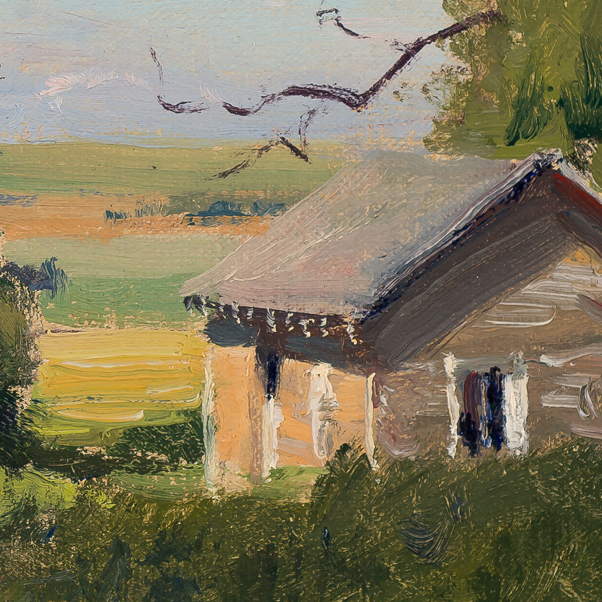 Toward Denver (Lasater) painting by Joe Paquet