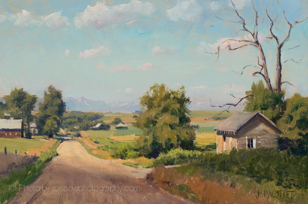 Toward Denver (Lasater) painting by Joe Paquet