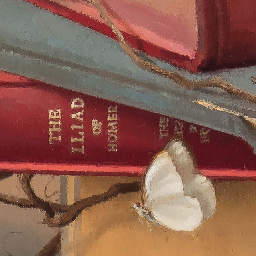 Books & Butterflies 5-painting bySteve Levinphotographed by Mitch Rossow -detail-210731