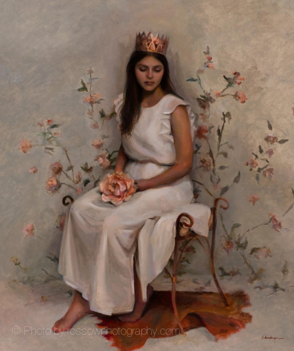 I Am The Daughter-painting by Kelly Schamberger