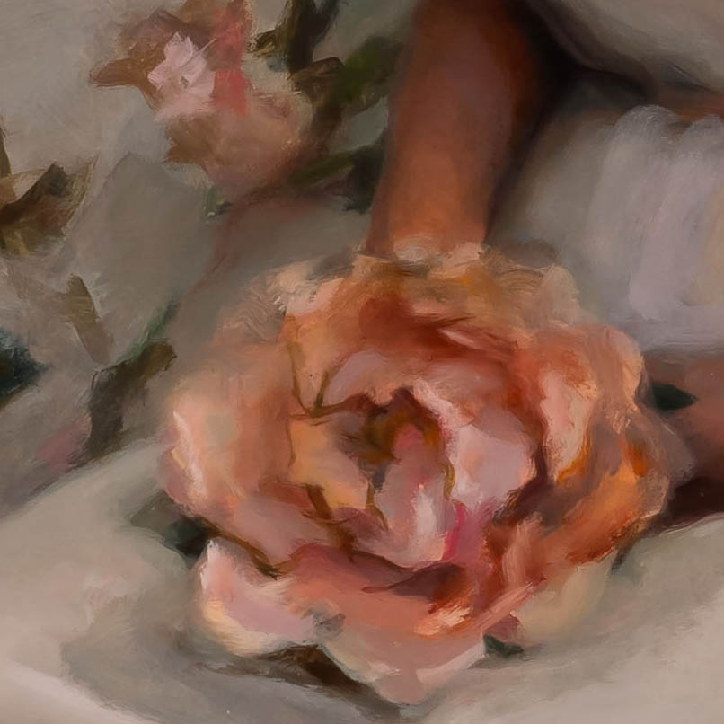 I Am The Daughter-painting by-Kelly Schamberger-detail