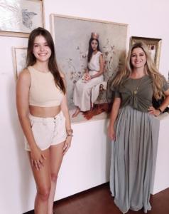 Kelly Schamberger with model Elizabeth